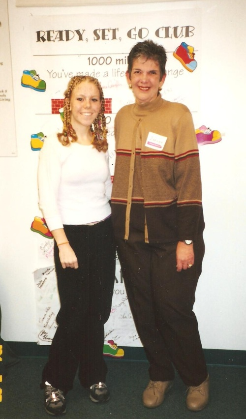 """Reached """"Lifetime"""" status with WW -- 130lbs -- pictured with JoAnn"""